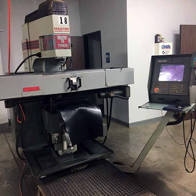 "Lot 23 - CNC VERTICAL MILL, TREE MASTER JOURNEYMAN, new 1996, 12"" x 51"" table, 30"" X, 15"" Y & 6"" Z-axis"