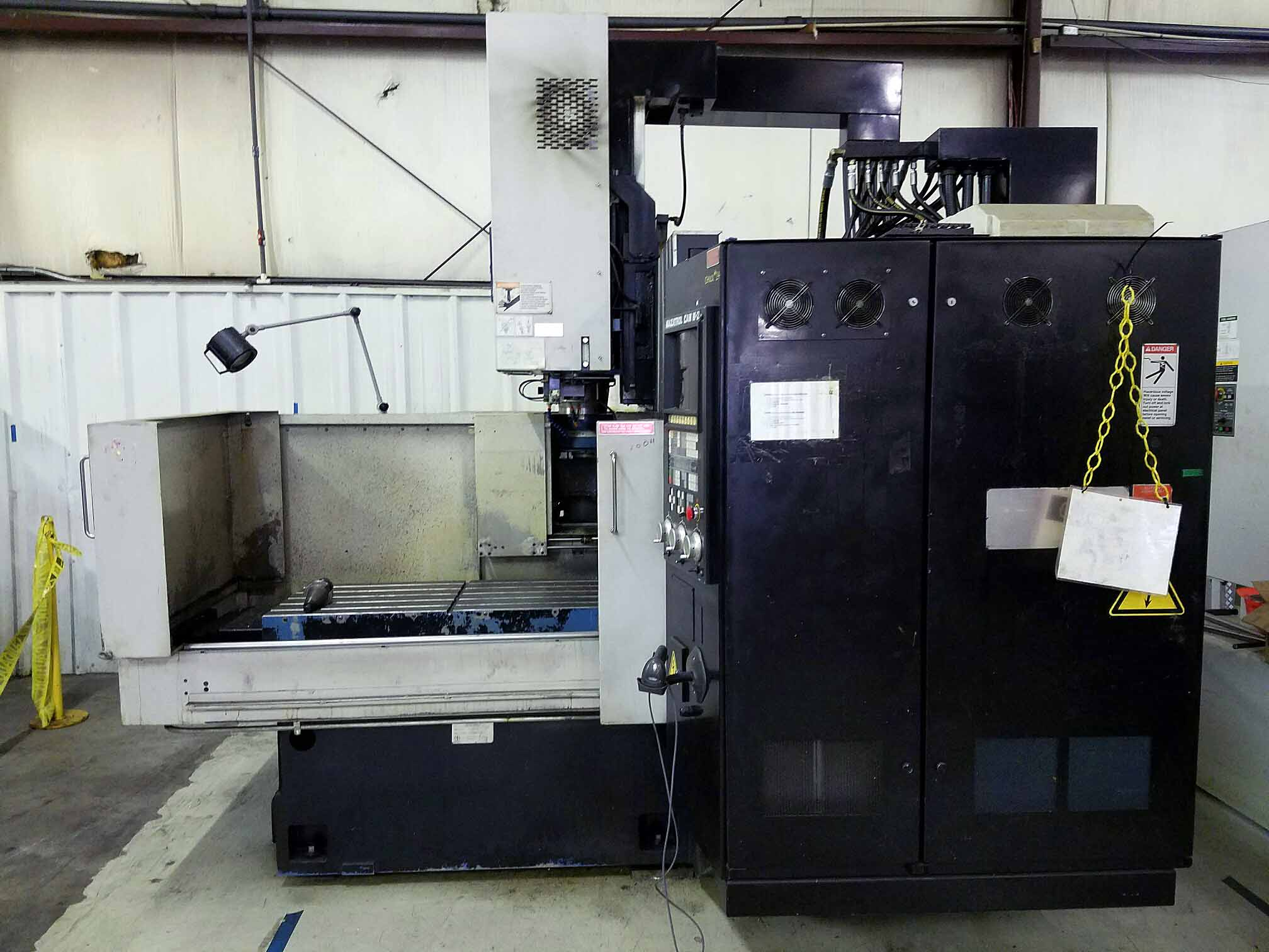 "Lot 11 - VERTICAL MACHINING CENTER, MAZAK MDL. VQC-20/50B, Mazatrol Cam M2 CNC control, 22"" x 48-3/4"""