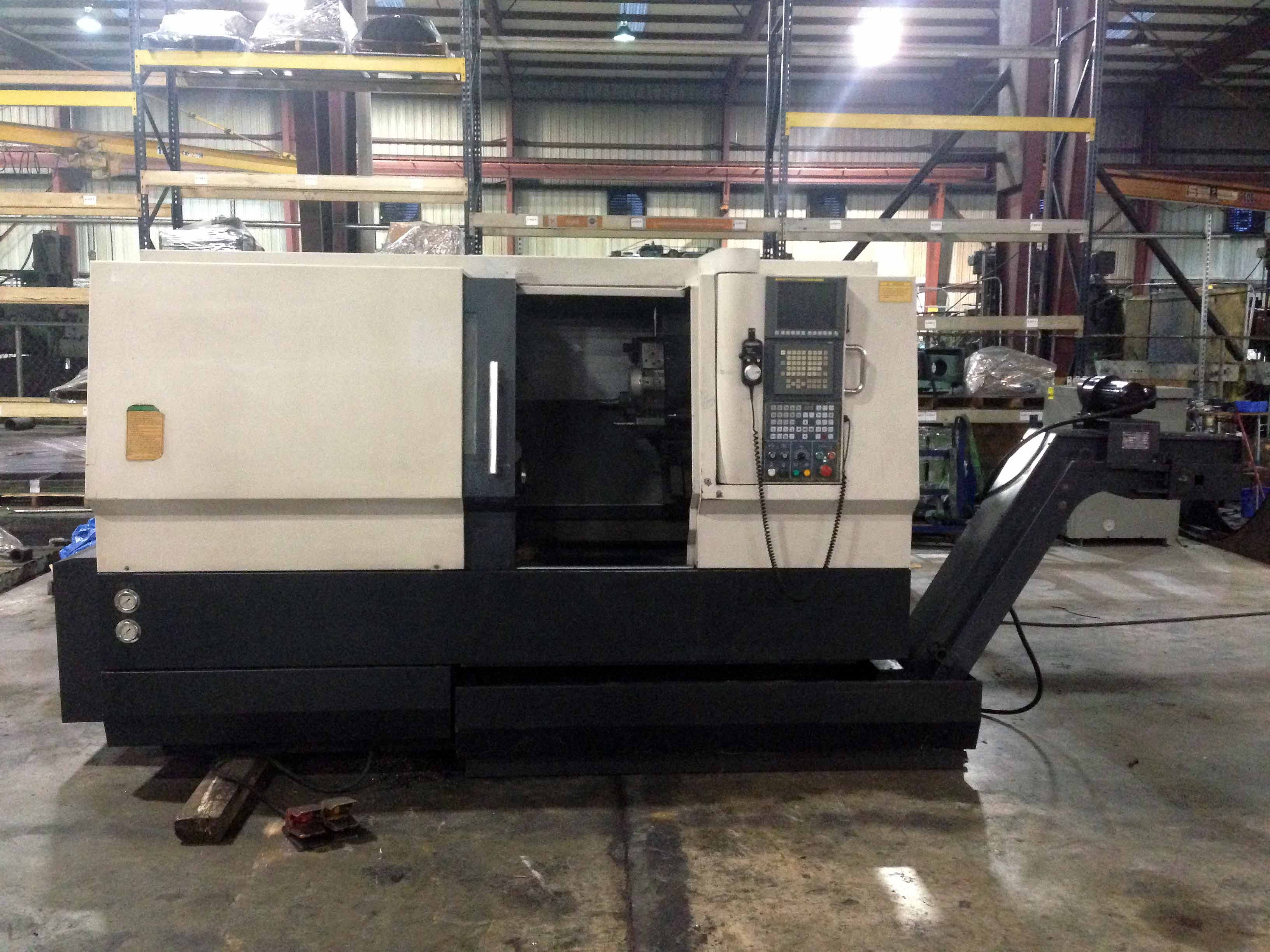 "Lot 35 - CNC SLANT BED LATHE, SMTCL 20"" X 21"" MDL. HTC4554, Fanuc 0i-TC CNC control, 20.47"" sw. over bed,"