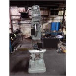 "VERTICAL TURRET MILL, BRIDGEPORT SERIES T J-HEAD, 9"" x 42"" table, R-8 spdl., 6"" swivel base vise ("