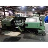 "Lot 43 - CNC LATHE, OKUMA MDL. LH35-N, Okuma CNC control, 24"" x 60"", 4-way toolpost, tailstock, assorted"