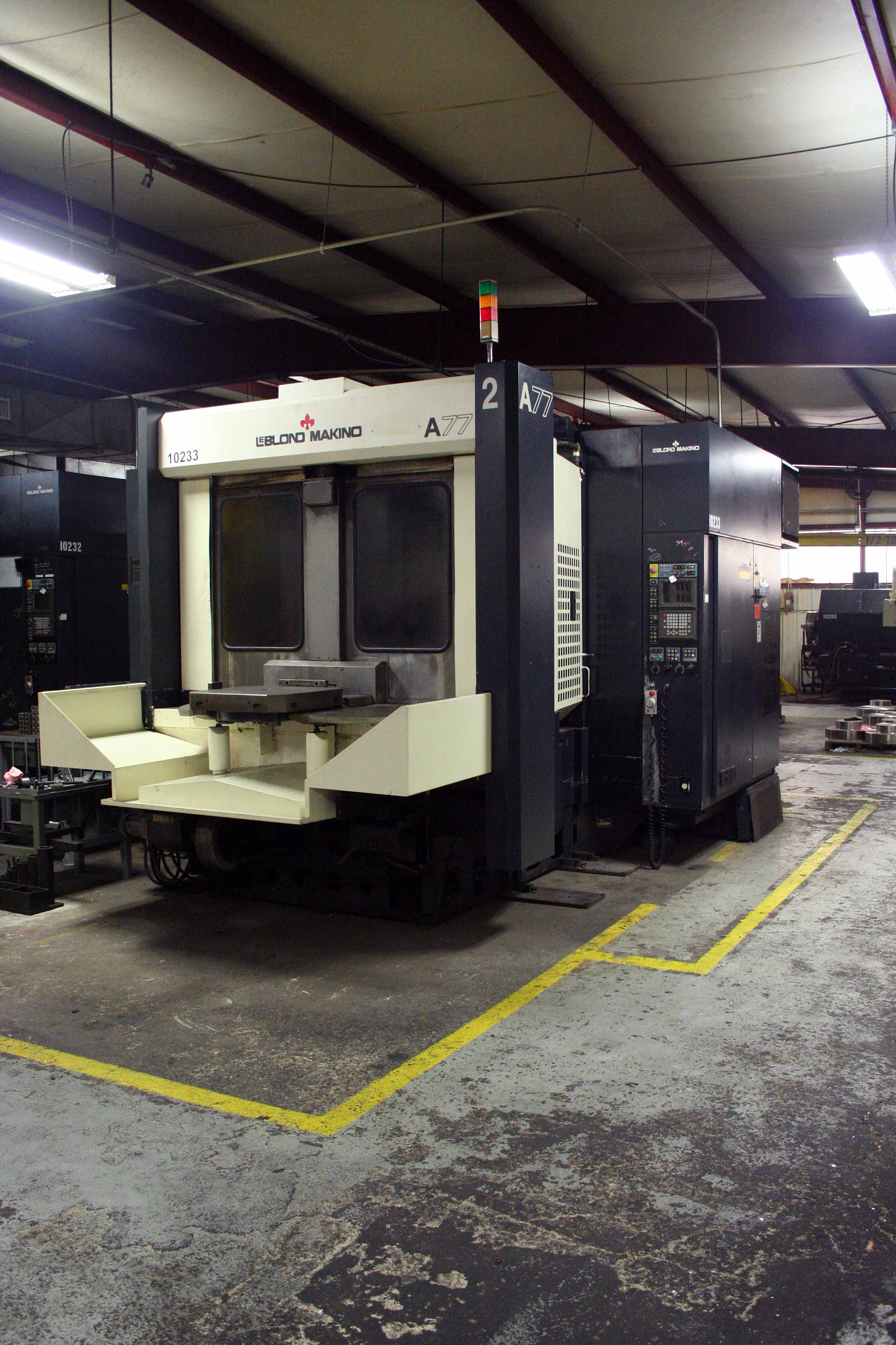 Lot 5 - CNC HORIZONTAL MACHINING CENTER, LEBLOND MAKINO MDL. A77, new 1995, Fanuc 16MB Pro CNC control, 24.