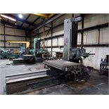 "Lot 45 - HORIZONTAL BORING MILL, CINCINNATI GILBERT, 53"" x 78"" table, Sargon D.R.O., S/N N.A. (must be"
