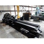 "Lot 48 - ENGINE LATHE, LANGE, approx. 52"" sw. x 15"" in gap, approx. 32"" x 144"" centers outside gap, 36"""