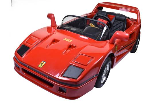 Scarce Tt Toys Toys Italy Battery Powered Ferrari F40 Childs Toy Car Circa 1989 90 Moulded Re