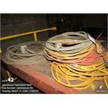 Lot of extesion cords approx. 400' 120v.& 220v.
