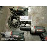 Lot (3) Metabo drill tools