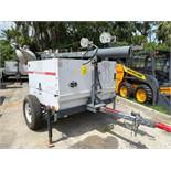 2011 MAGNUM DIESEL LIGHT TOWER/GENERATOR, 6KW, LARGE CAPACITY FUEL TANK, TRAILER MOUNTED, RUNS AND O