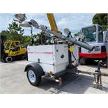 2010 MAGNUM DIESEL LIGHT TOWER/GENERATOR, 6KW, LARGE CAPACITY FUEL TANK, TRAILER MOUNTED, RUNS AND O