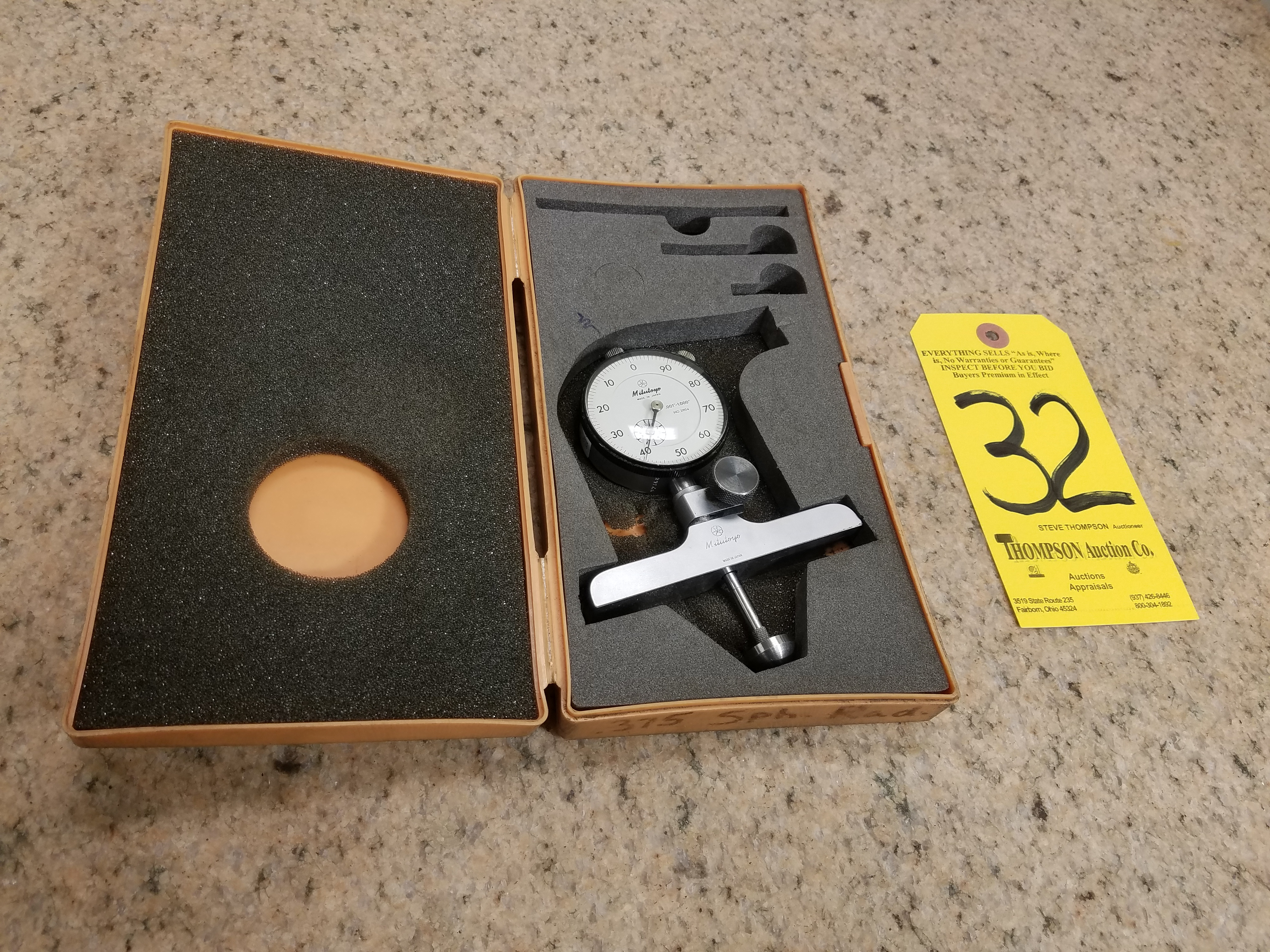 Lot 32 - Mitutoyo Spherical Radius Gage, .375 Inch
