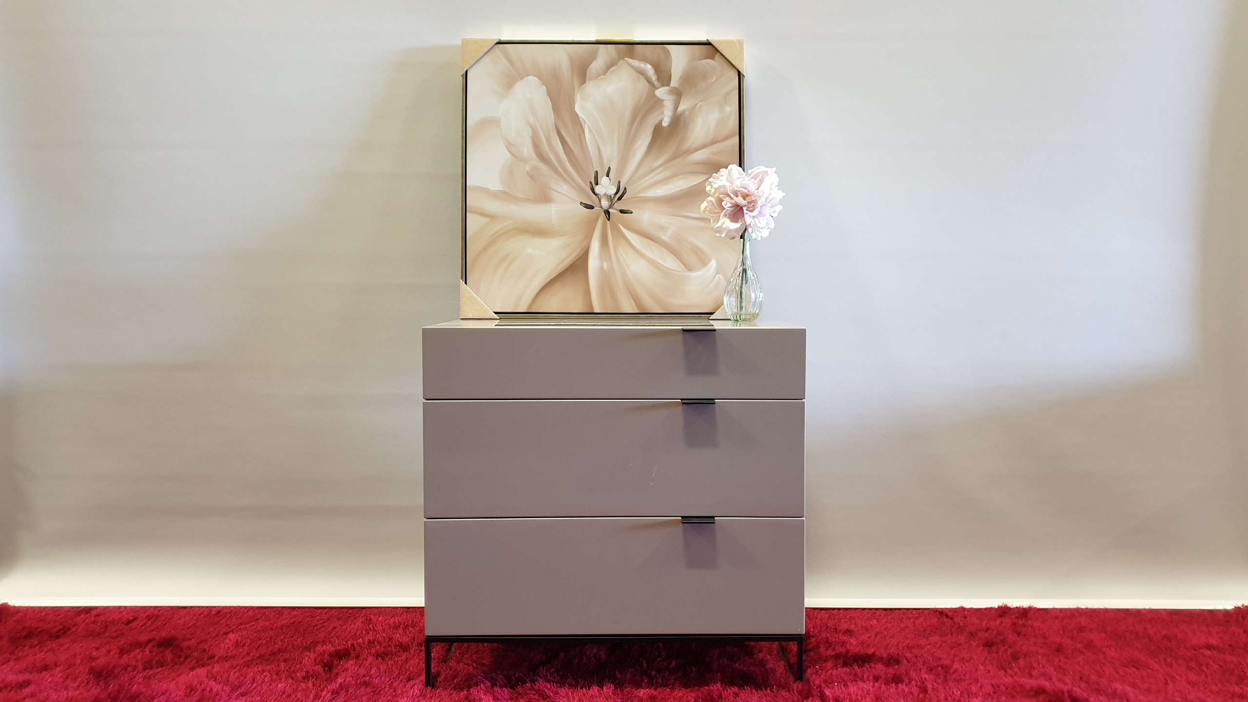 BRAND NEW 3 DRAWER HIGH GLOSS AVORIO MDF SOFT CLOSE CHEST OF DRAWERS 800 X 450 X 803MM RRP £329