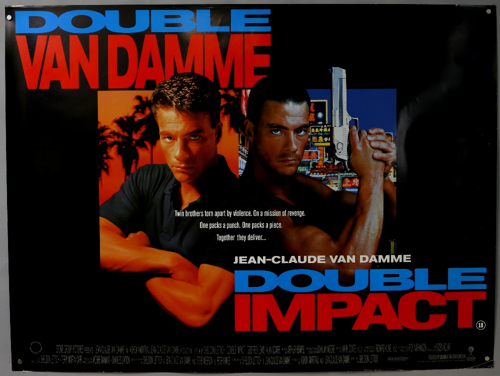 Lot 2380 - 50 British Quad film posters including Desperado, Kickboxer, Double Impact, Fahrenheit 9/11, Bowling