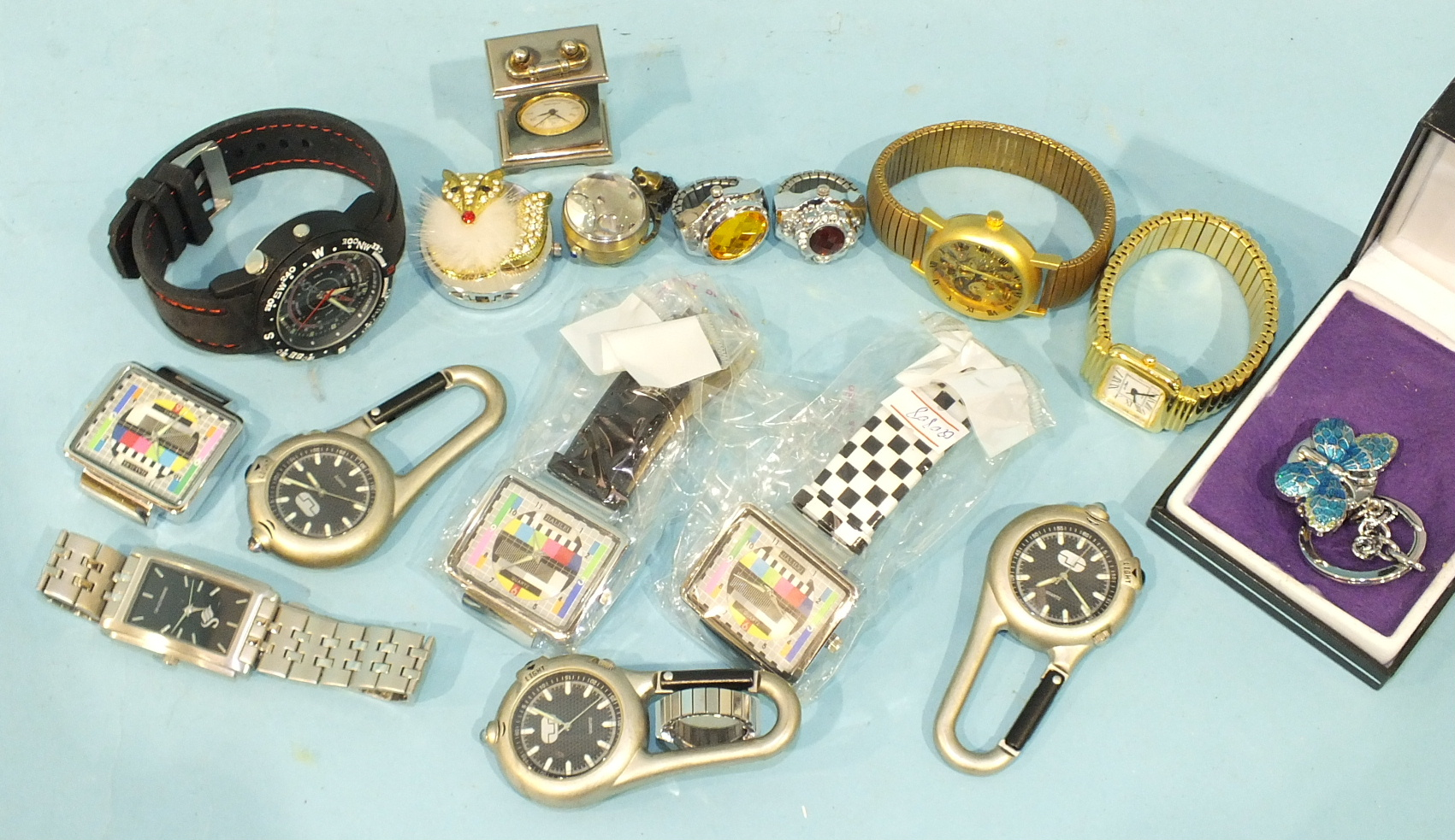 Lot 201 - Various fashion and novelty watches.