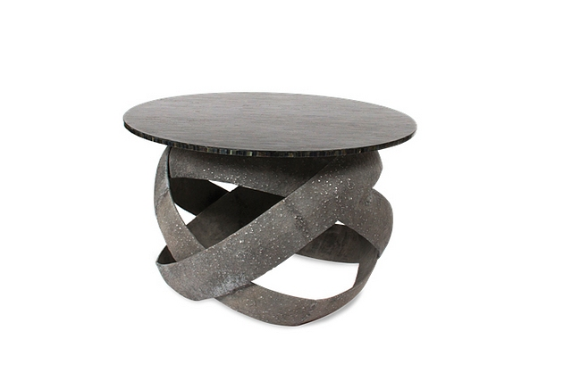 Lot 41 - Side Table Tigo Tiger spectacularly finished piece in an amalgamation of fine organic materials