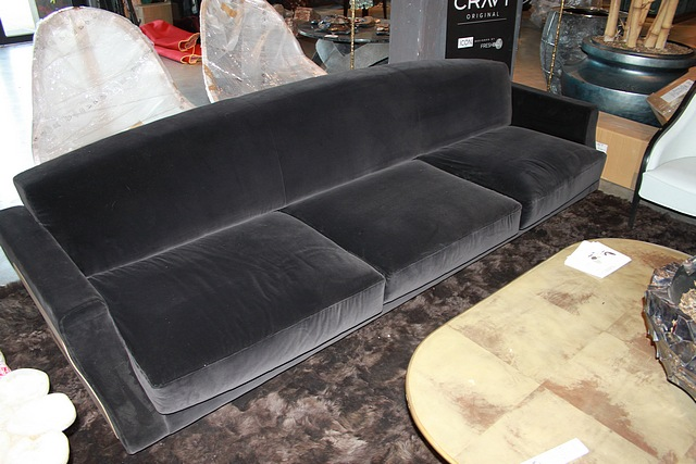 Lot 33 - Sofa Armada Triple plush velvet sofa decadently soft yet durable constructed on a wood and metal