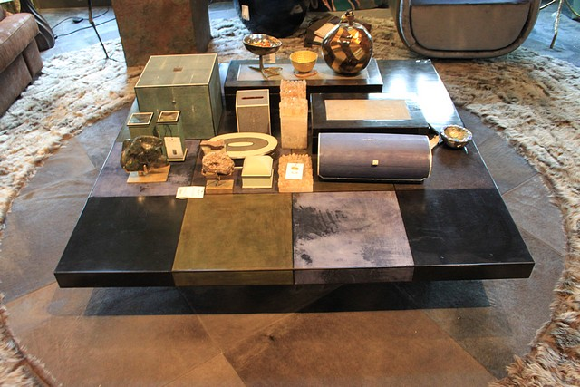 Lot 117 - Coffee table pairing an amalgamation of the finest materials with an eye catching sculptural form,