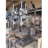 "24"" CINCINNATI BICKFORD SUPER SERVICE GEAR HEAD DRILL PRESS, (12) SPINDLE SPEEDS 60-1000 RPM,"