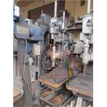 "28"" CINCINNATI BICKFORD SUPER SERVICE GEAR HEAD DRILL PRESS, (12) SPINDLE SPEEDS 90-1500 RPM,"
