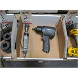 "LOT - HUSKY #H4480 1/2"" DRIVE PNEUMATIC IMPACT W/ CENTRAL PNEUMATICS 3/8"" DRIVE PNEUMATIC RATCHET"