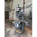 "CLAUSING KONDIA FV-1 VERTICAL MILL, 9"" X 42"" TABLE W/ POWER FEED, 60-4000 RPM, R8 SPINDLE TAPER, 2-"