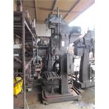"21"" CINCINNATI BICKFORD SUPER SERVICE GEAR HEAD DRILL PRESS, (12) SPINDLE SPEEDS 60-1000 RPM,"