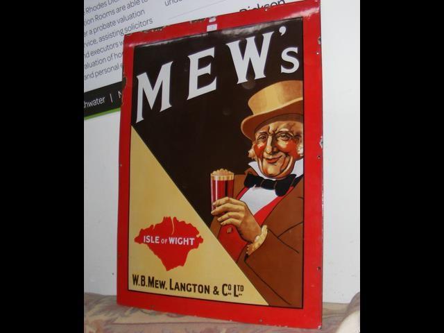 An old enamel Mew Langton sign - 99cm x 76cm