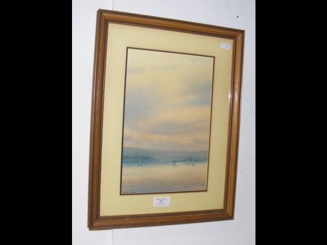 MARTIN SWAN - watercolour - sailing boats in The