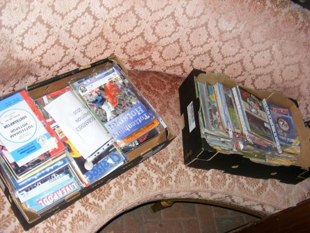 A collection of approx. 300 football programmes -
