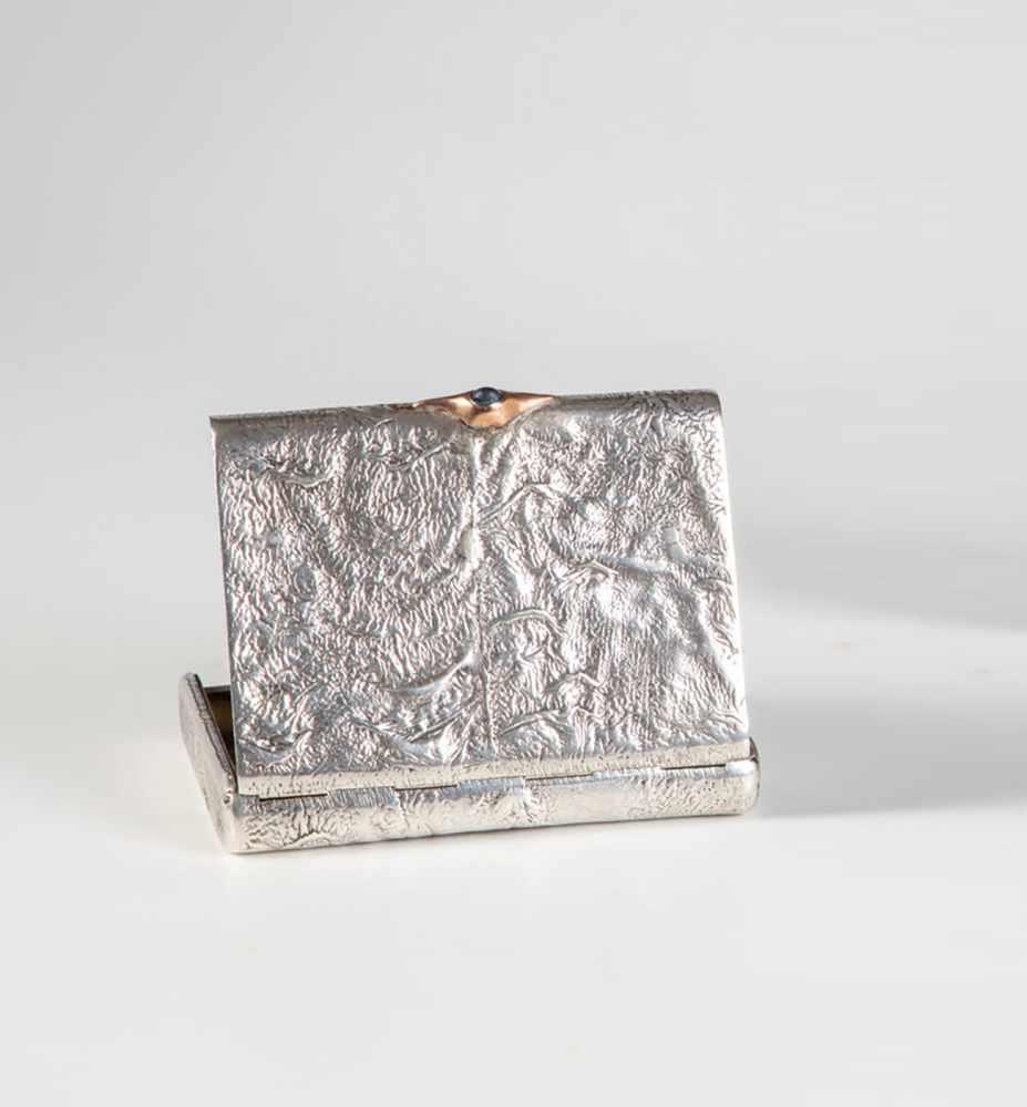 Los 23 - A silver samorodok cigarette case. Russia, St. Petersburg, Grigory Pantratiev (1874-1908),1908.