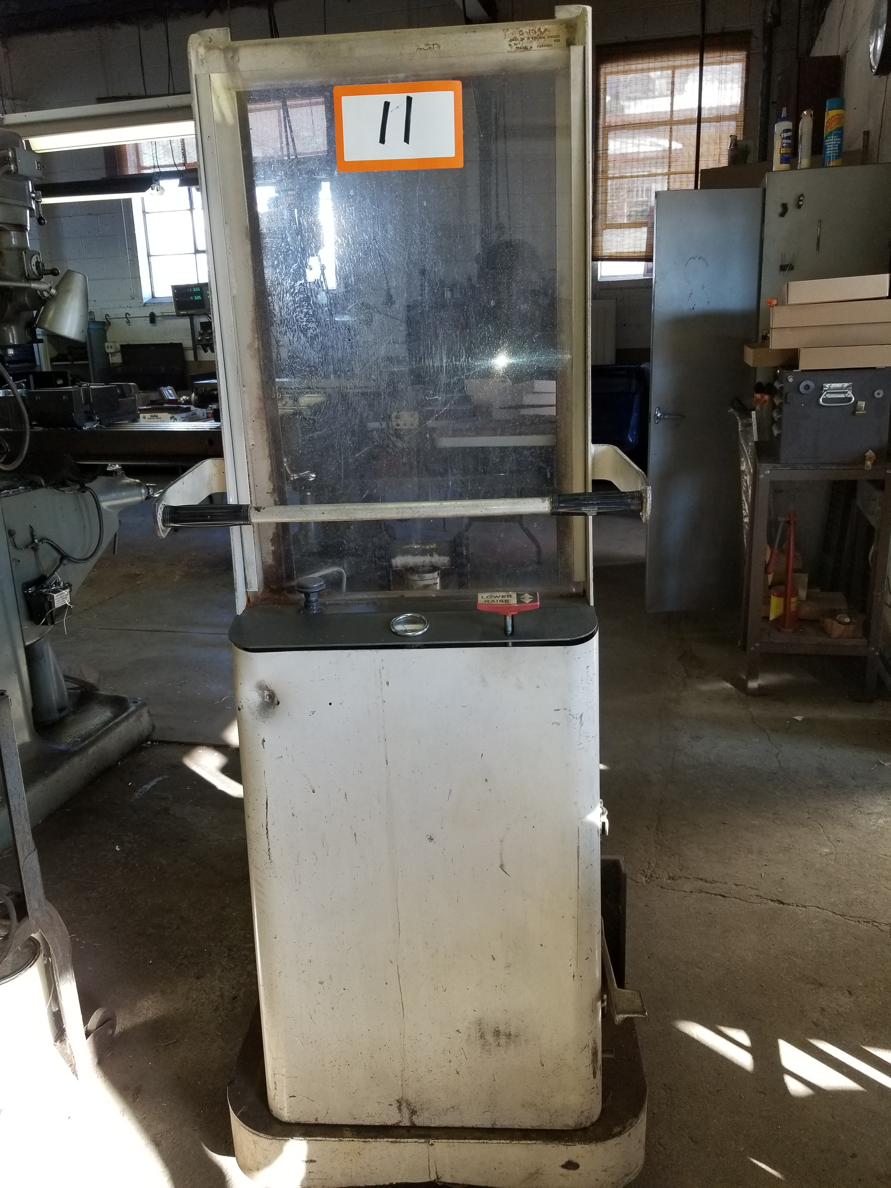Lot 11 - Crown B-57 Hydraulic Walk Behind Pallet Stacker with 1,500 lbs. Capacity