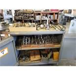 Bridgeport Dies and Accessories with Rollaway Cabinet