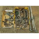 Large Group of C-Clamps and Bar Clamps