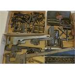 Group Lot of Pipe Wrenches, Metal Clamps, Socket Wrenches and Assorted Tools