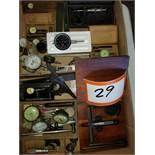 Group of Gauges, Dial Indicators, Micrometer