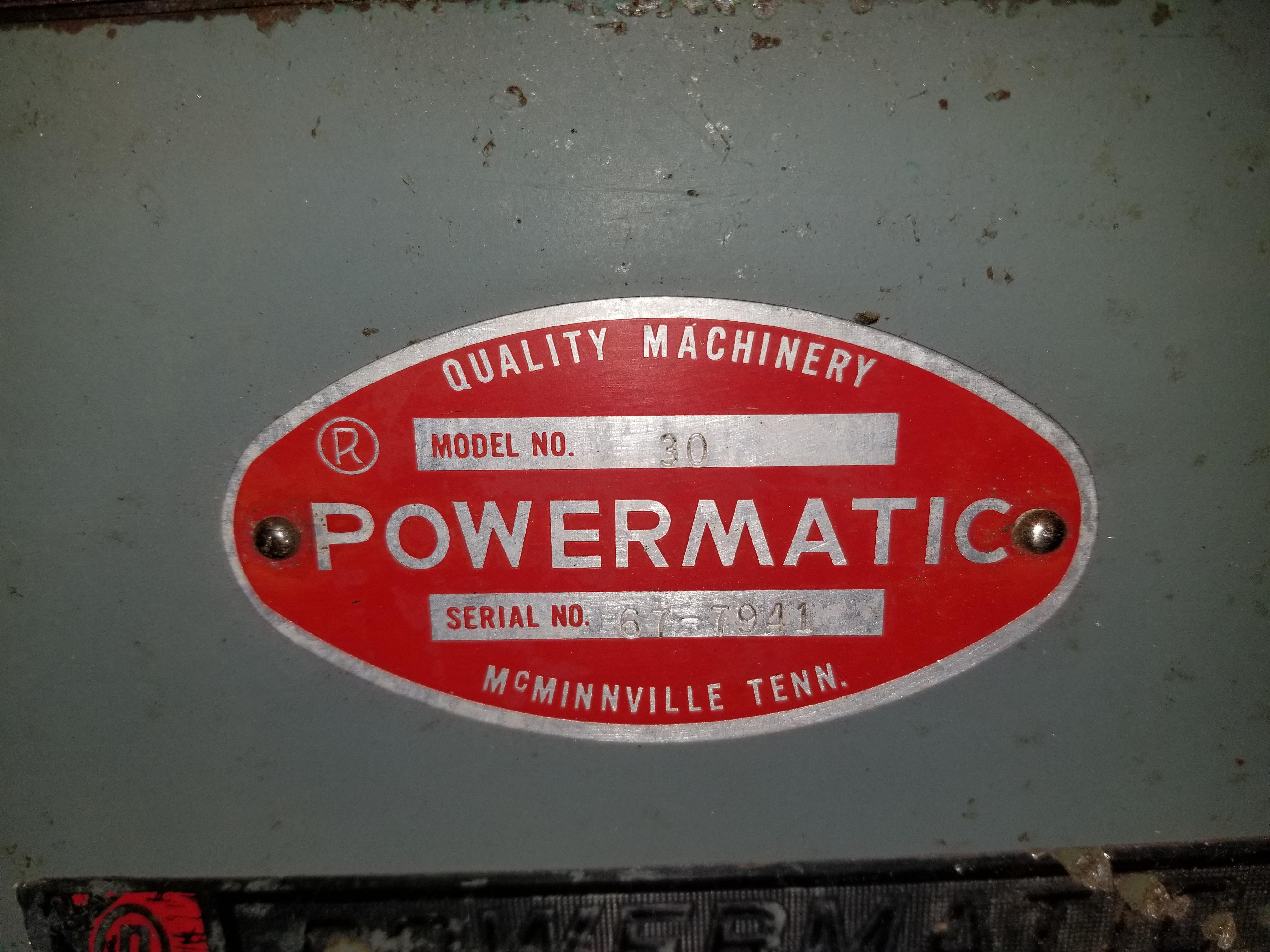 Lot 12 - Powermatic Model 30 Belt and Disc Sander