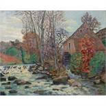 ARMAND GUILLAUMIN (1841-1927) LE MOULIN BOUCHARDON À CROZANT, CREUSE Huile sur toile Signée en bas à