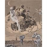 MAX ERNST (1891-1976) L'ESPRIT DE LOCARNO, 1929 Collage sur papier Collage on paper 24 X 18,5 CM - 9