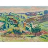 ARMAND GUILLAUMIN (1841-1927) LA CÔTE FACE AU PONT CHARRAUD, CREUSE Pastel sur papier Signé en bas à