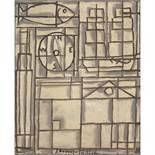 JOAQUÍN TORRES-GARCÍA (1974-1949) COMPOSITION CONSTRUCTIVISTE, 1931 Huile sur toile Signée et