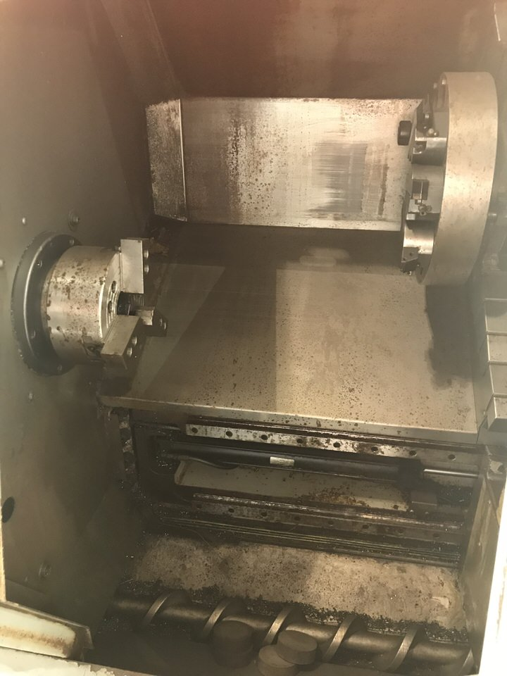 """Lot 112 - Haas SL-20 T CNC Lathe, Year: 2004, Turning DIa: 10.3"""", Swing: 23"""", Centers: 24"""", X Axis Travel: 8."""