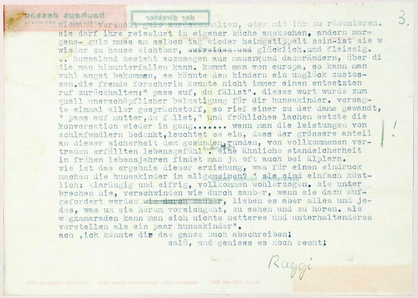 Bauhaus - Herbert Bayer. Der Direktor. Bauhaus Dessau. Hochschule für Gestaltung. Buchdruck in Rot - Image 2 of 2