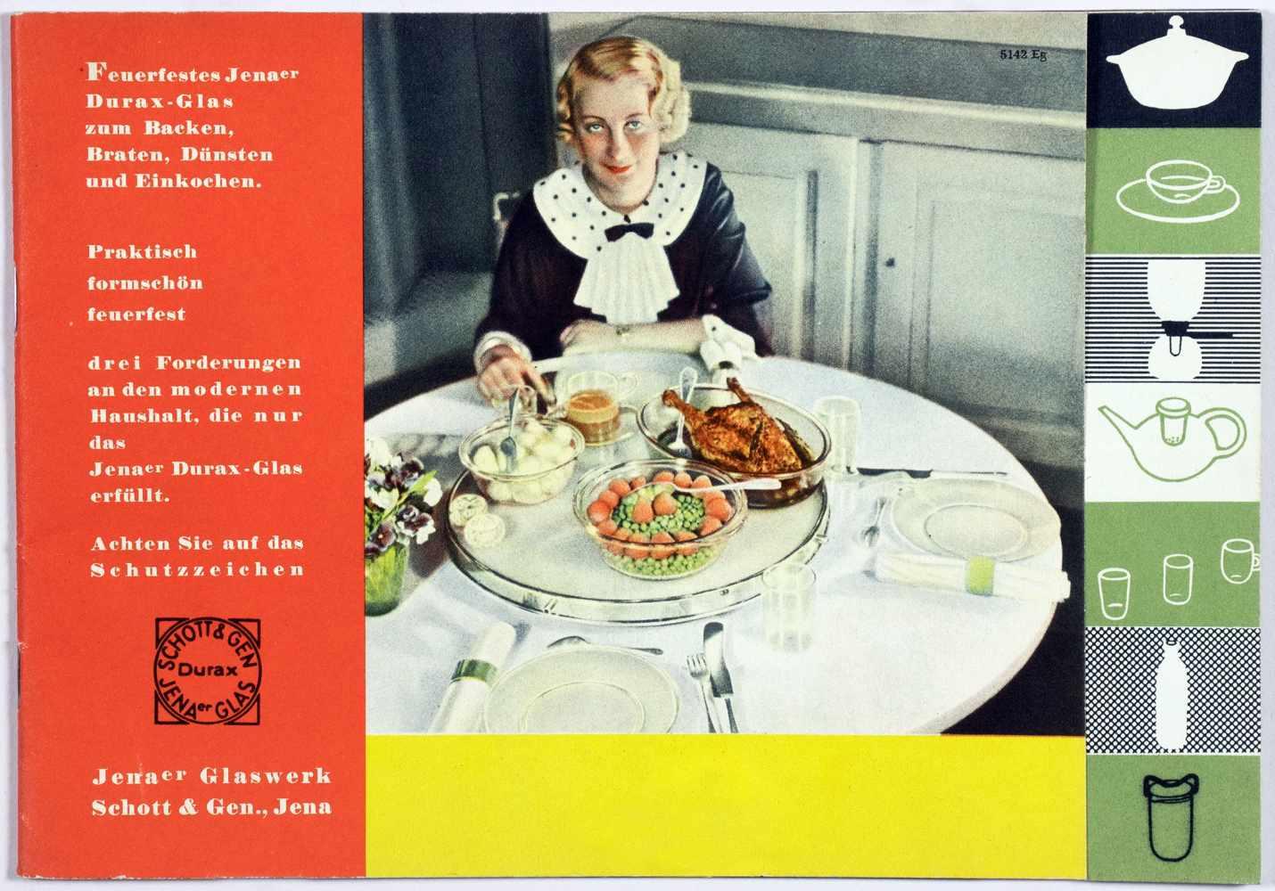 Laszlo Moholy-Nagy - Fünf Werbebroschüren und -flyer für das Jenaer Glaswerk Schott & Gen. Jena um - Image 5 of 5