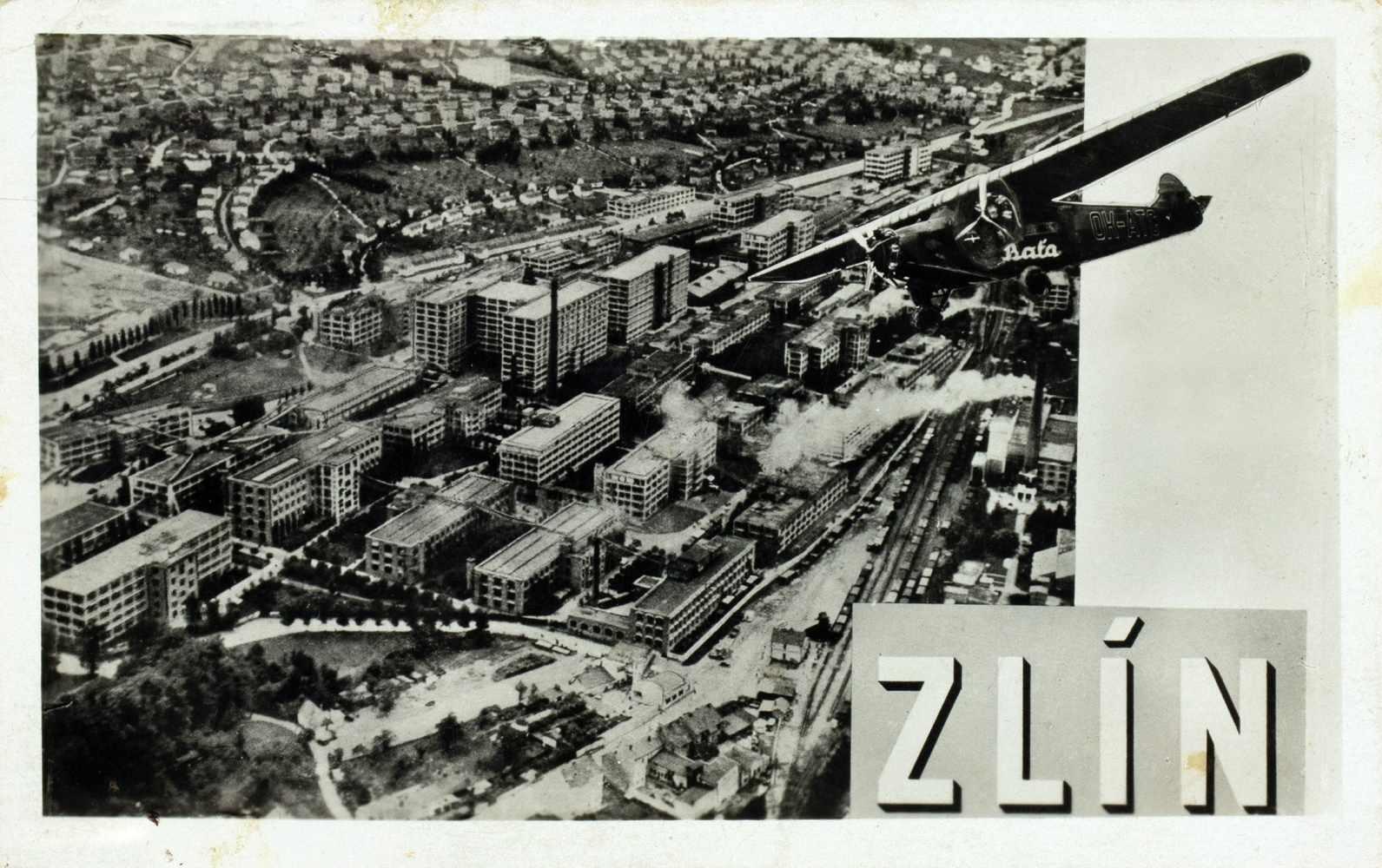 Bata-Zlin - Vier Fotomontagen. (Vintages, Silbergelatine, rückseitig mit Postkartenaufdruck). Um - Image 3 of 4