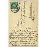 Kurt Schwitters. Eigenhändige Kunstpostkarte. Hannover, 4.1.1926. Beidseitig beschrieben. An Max