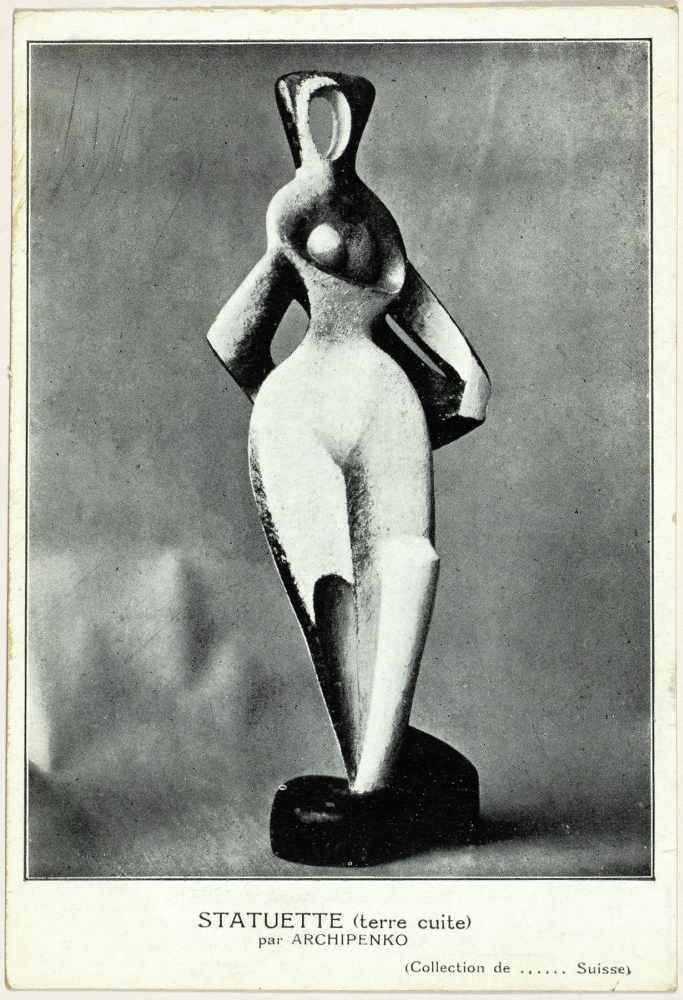 Sturm-Postkarten. Vier Postkarten. Um 1915. Ca. 14 : 10 cm. I. Marc Chagall. Kleinstadt. - Image 4 of 4