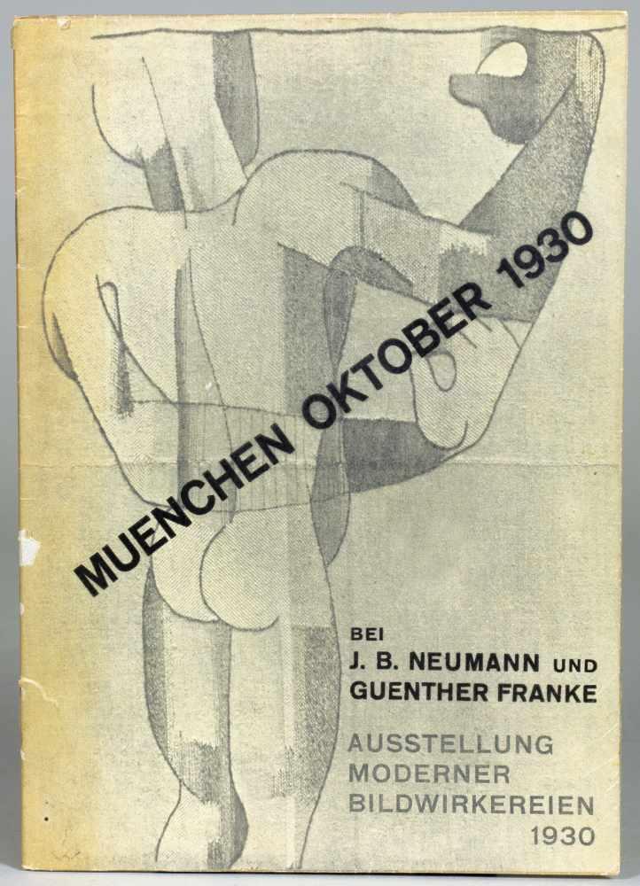 Ausstellung Moderner Bildwirkereien. bei J. B. Neumann und Guenther Franke. München Oktober 1930.