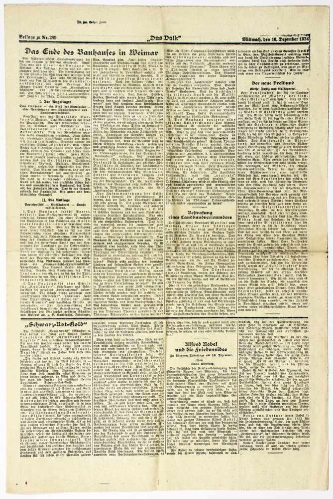 Bauhaus - Pressestimmen zur bevorstehenden Schließung des Bauhauses Weimar. Fünf - Image 2 of 6