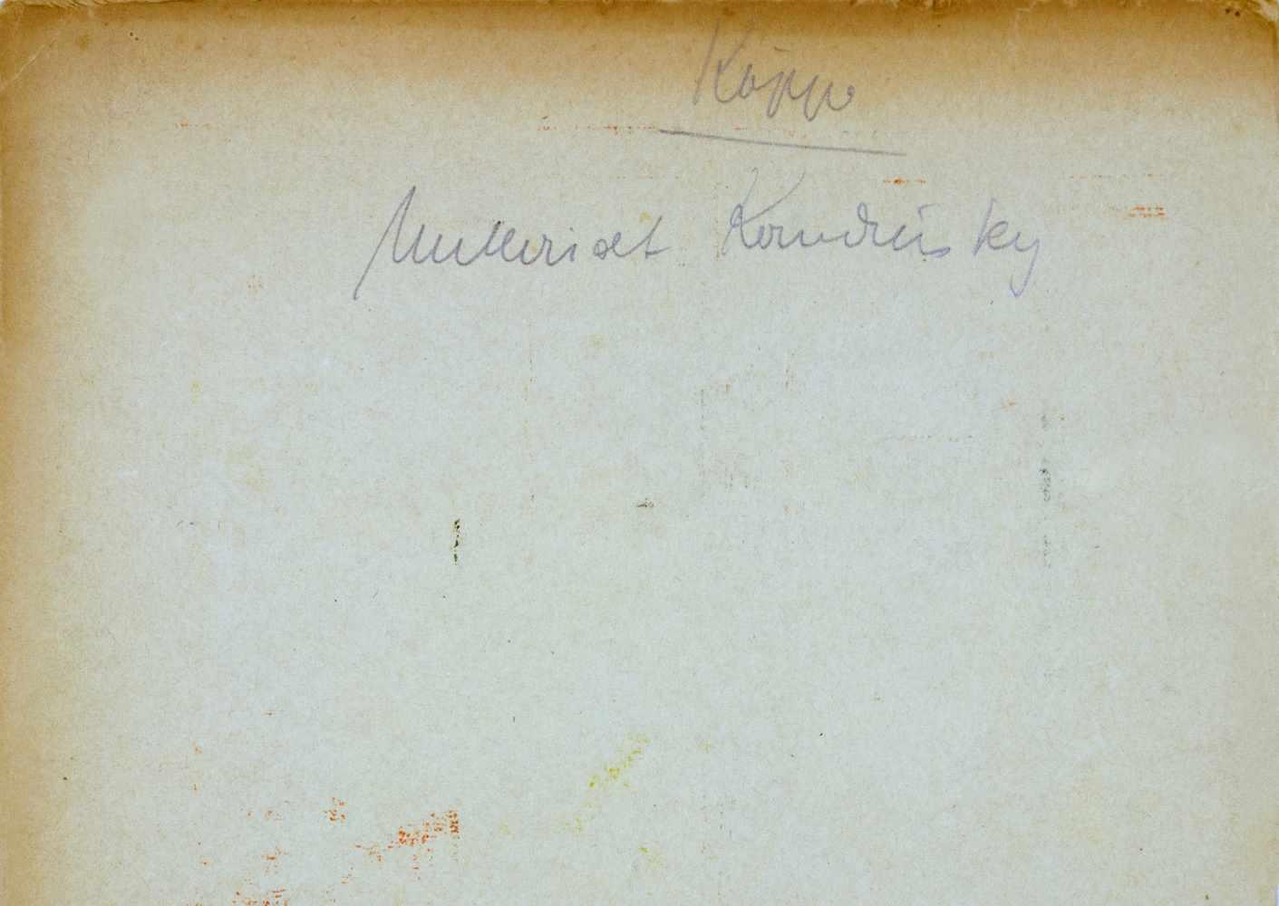 Bauhaus - Walter Köppe. Unterricht Kandinsky. Farbspektren. 28 collagierte Temperafarbflächen auf - Image 2 of 2