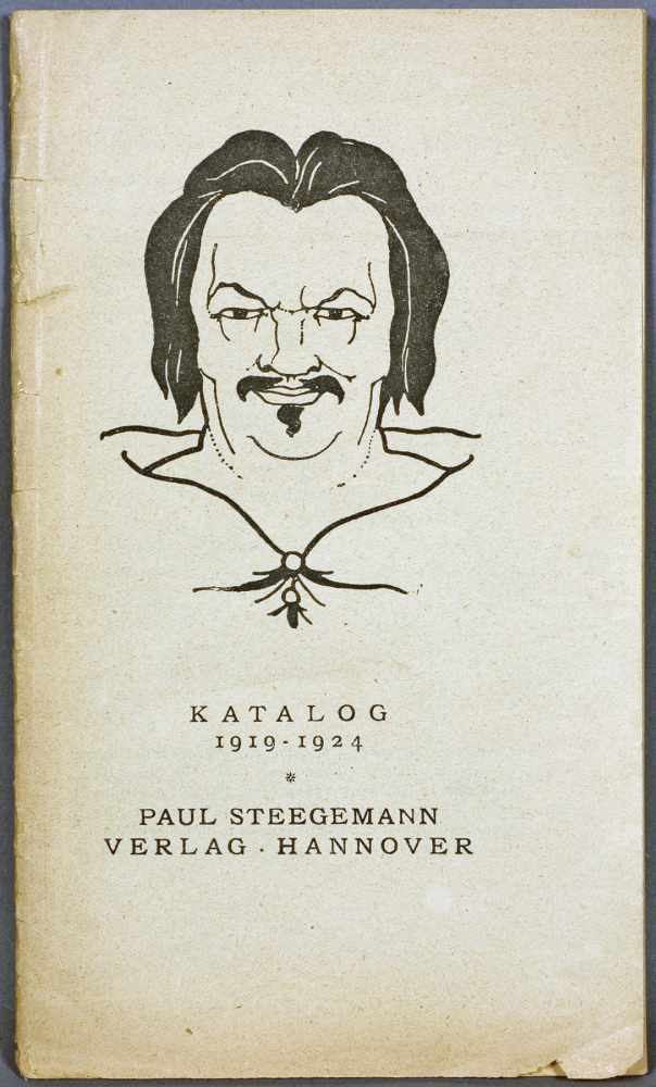 Katalog 1919-1924 Paul Steegemann Verlag · Hannover. Hannover Oktober 1924. Pappband mit