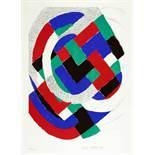 Sonia Delaunay-Terk. Ohne Titel (aus: IAA / AIAP, UNESCO). Farblithographie. 1971. 45 : 31 cm (63,